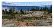 West Thumb Geyer At Yellowstone Lake Beach Towel