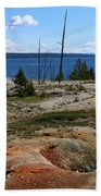 West Thumb Geyer At Yellowstone Lake Beach Towel