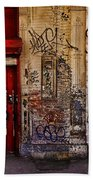 West Village Wall Nyc Beach Towel by Chris Lord