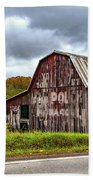 West Virginia Barn Beach Towel