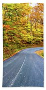 West Virginia Curves - In A Yellow Wood - Paint Beach Towel