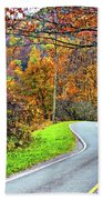 West Virginia Curves Beach Towel