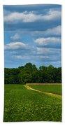 West Virginia Field  Beach Towel