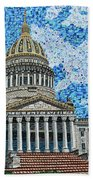 West Virginia State Capitol Beach Towel