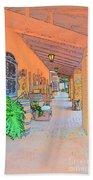 Western Alley Drawing 1 Beach Towel