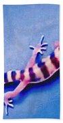 Western Banded Gecko Beach Towel