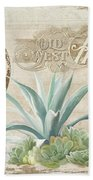 Western Range 4 Old West Desert Cactus Farm Ranch  Wooden Sign Hardware Beach Towel
