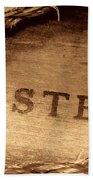 Western Stamp Branding Beach Towel