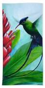 Western Streamertail Hummingbird Beach Towel