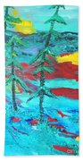 Western Sunset Beach Towel