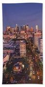 Westlake Los Angeles Aerial Beach Towel
