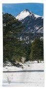 Wet Mountain Valley In Winter Beach Towel