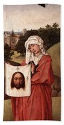 Weyden Crucifixion Triptych  Right Wing  Beach Towel
