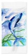Whale 6 Beach Towel