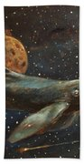 Whale Of The Universe Beach Towel