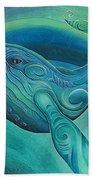 Whale Tohora By Reina Cottier Beach Towel