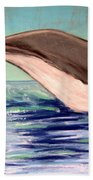 Whale Tail    Pastel   Sold Beach Towel
