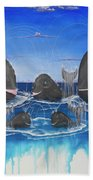 Whales Tail Waterfall Beach Towel