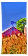 Wheat Farm Near Gettysburg Beach Towel