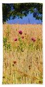 Wheat Field Beach Towel