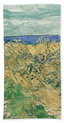 Wheat Field With Cornflowers At Wheat Fields Van Gogh Series, By Vincent Van Gogh Beach Sheet