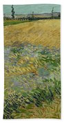 Wheatfield Arles, June 1888 Vincent Van Gogh 1853 - 1890 Beach Towel