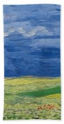 Wheatfields Under Thunderclouds Beach Towel