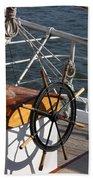 Sailingship Wheel Beach Towel