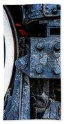 Wheel In Black II Beach Sheet