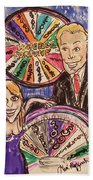 Wheel Of Fortune Pat Sajak And Vanna White Beach Towel