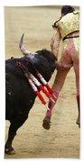 When The Bull Gores The Matador I Beach Sheet