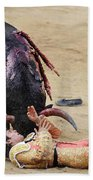 When The Bull Gores The Matador Vii Beach Towel