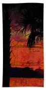 When The Day Ends Time Is Exhausted Beach Towel