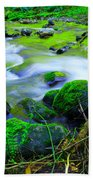 Where The Golden Waters Flow Beach Towel