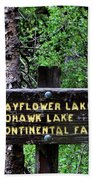 Which Way To Mayflower Lake Beach Towel