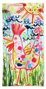 Whimsical Chicken Beach Towel