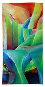 Whimsical Mood-landscape And Fields Beach Towel