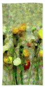 Whimsical Poppies On The Wall Beach Towel