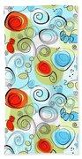 Whimsical Seamless Pattern Beach Towel