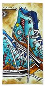 Whimsical Shoes By Madart Beach Towel