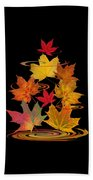 Whirling Autumn Leaves Beach Towel