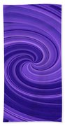 Whirlpool Blues Beach Towel