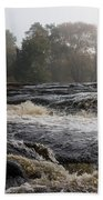 Whiskey River - Foggy Fall Waterscape Beach Towel