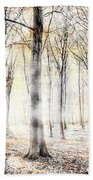 Whispering Woodland In Autumn Fall Beach Towel