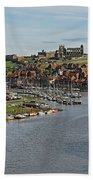 Whitby Marina And The River Esk Beach Towel