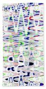 White And Blue Abstract Beach Towel