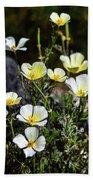 White And Yellow Poppies 1 Beach Towel