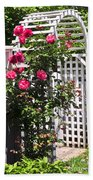 White Arbor In A Garden Beach Towel by Elena Elisseeva