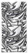 White Arrows Seamless Pattern Beach Towel