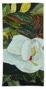 White Beauty Beach Towel
